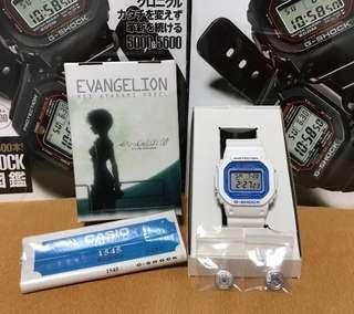 ❇️ COLLECTOR'S ITEM ❇️ Casio G-Shock X Evangelion Rei Ayanami DW5600VT (Special Edition) (Japan Model) 1545 Module 😊 DW5600 😊😊😊😊 FOXFIRE 😊 Neon Genesis Evangelion😊😊😊 DW 5600 😊