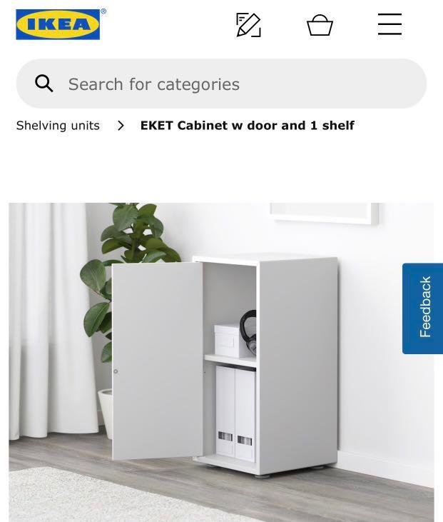 50 Off Ikea Eket Cabinet Shelf With Door Furniture Shelves