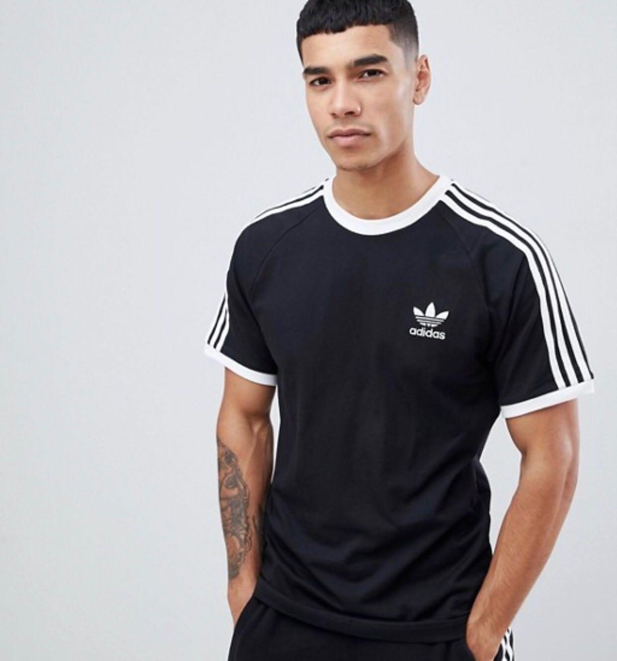 Hasta aquí explotar Ocurrir  adidas Originals adicolor california t-shirt in black, Men's Fashion,  Clothes, Tops on Carousell