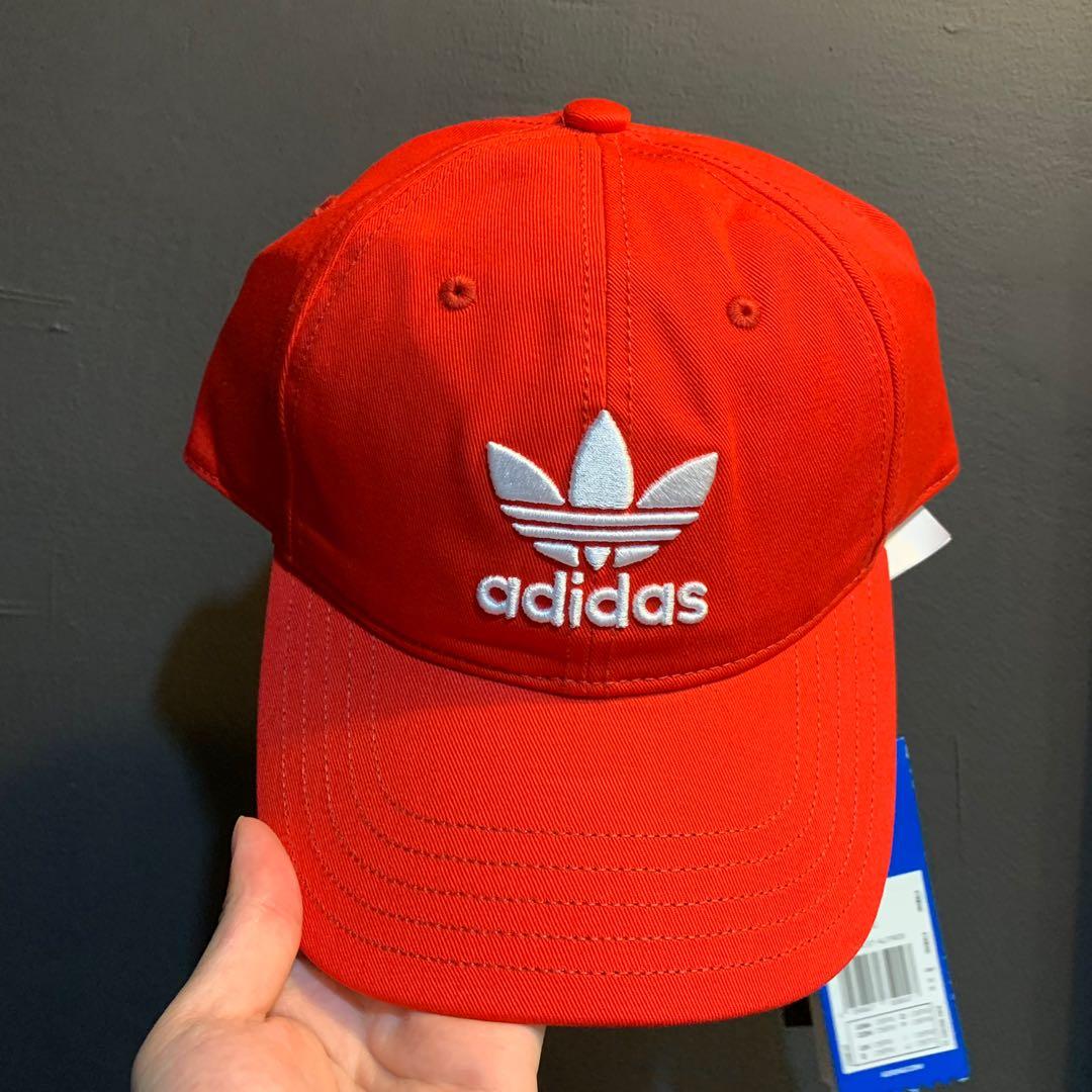 56012766e20ac Adidas Red Originals Trefoil Dad Cap