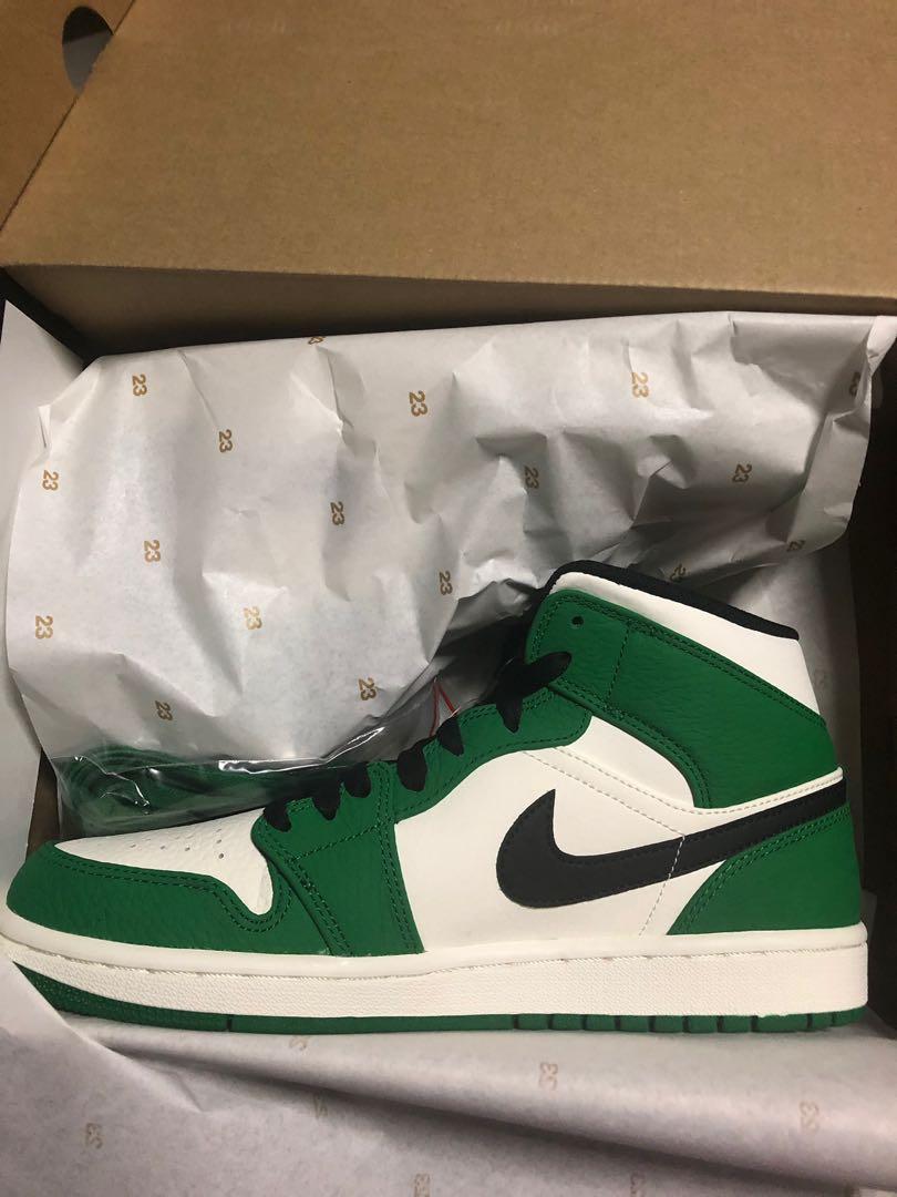 6d5c60b81e5b8c Air Jordan 1 mid pine green
