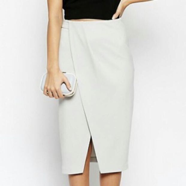 e8043e7b27 ASOS Grey Wrap Skirt, Women's Fashion, Clothes, Dresses & Skirts on ...