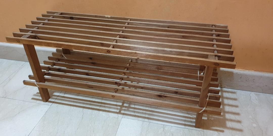 Peachy Beautiful 2 Tier Wooden Shoe Rack Endgameyourexcess Spiritservingveterans Wood Chair Design Ideas Spiritservingveteransorg