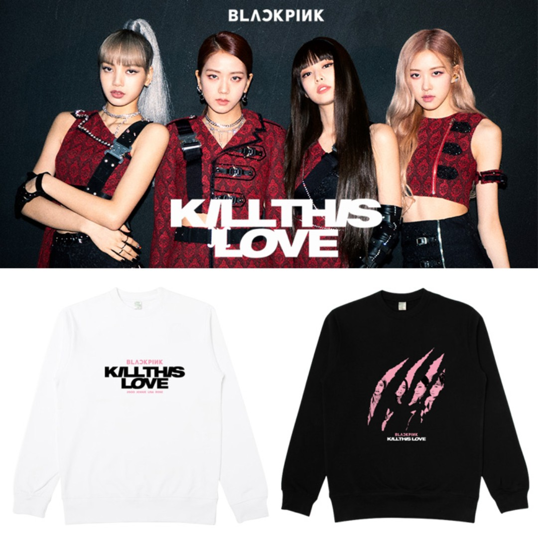 4cd4ae7a Kill this love black pink t