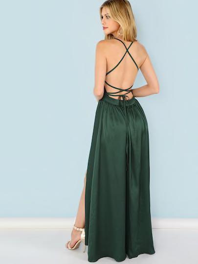 BNWT Forest green prom dress