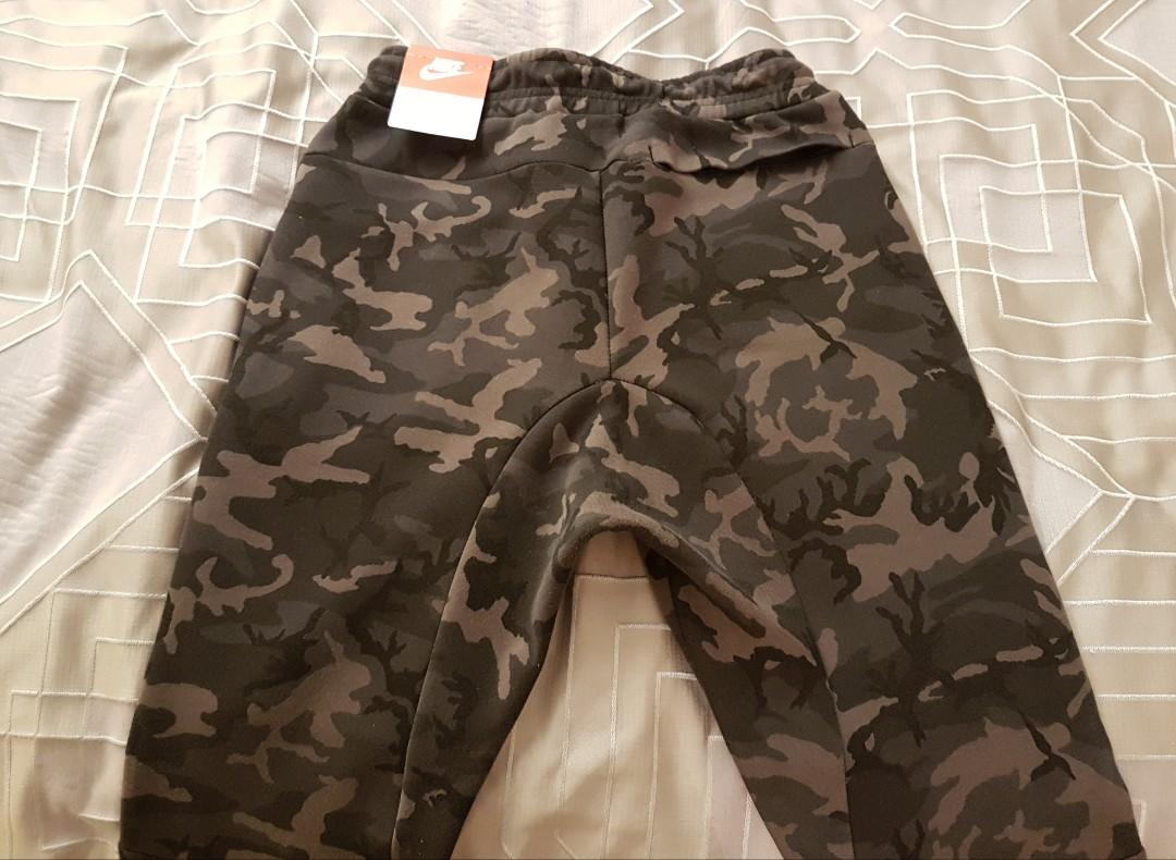 BNWT Nike Tech Fleece camo joggers - ash gray/small