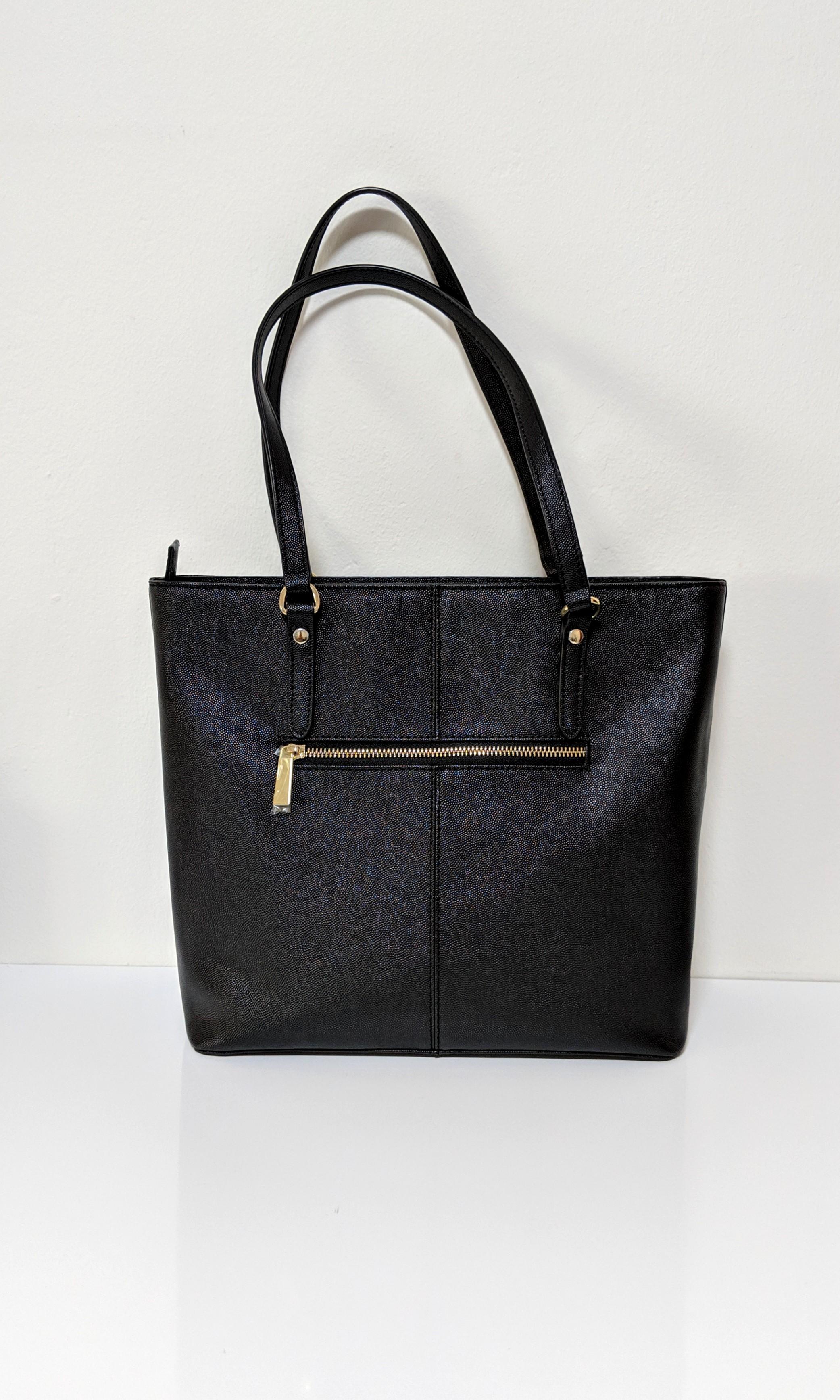 Carlo Rino Black Shoulder Bag