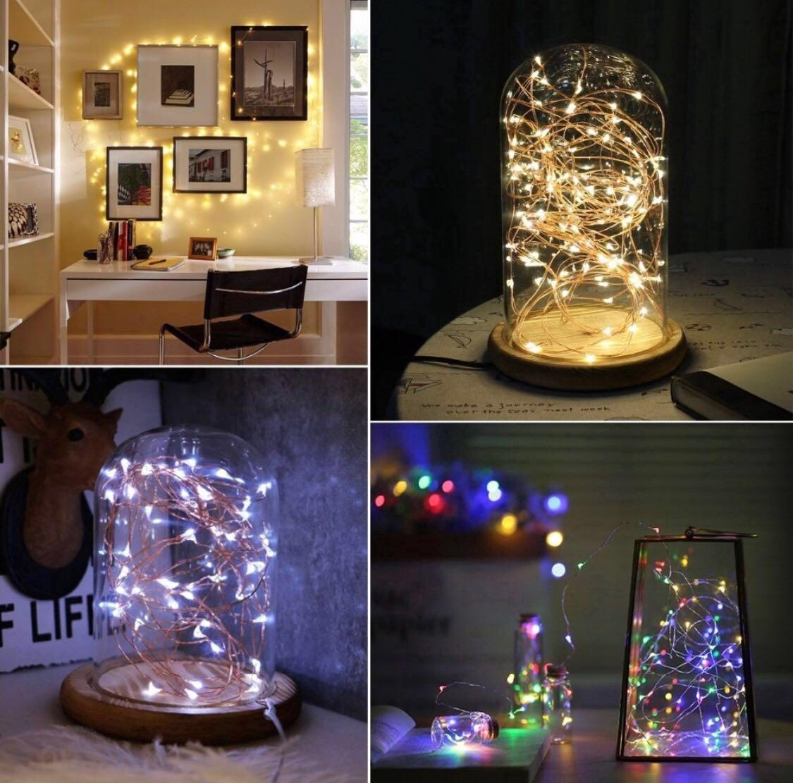 Cheapest in Carousell ‼️USB LED Fairy Lights Silver Wire 5m