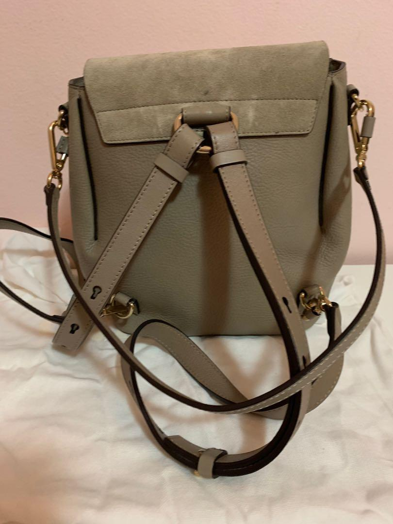 Chloe Faye leather and suede backpack