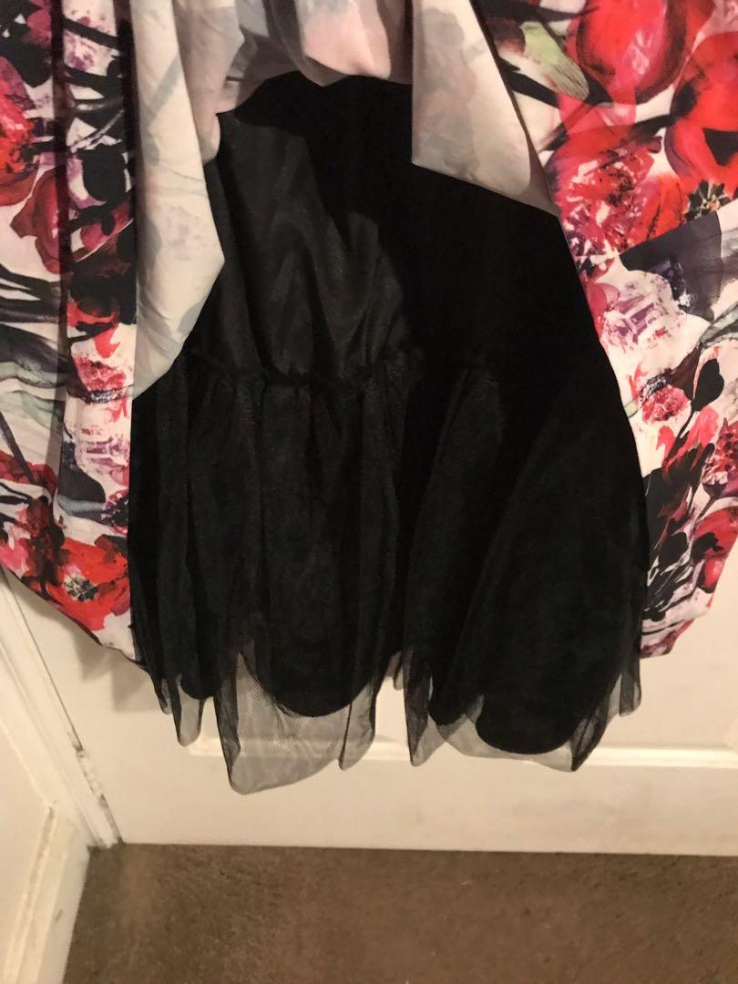 City Chic floral party dress - Size L (plus size) worn once