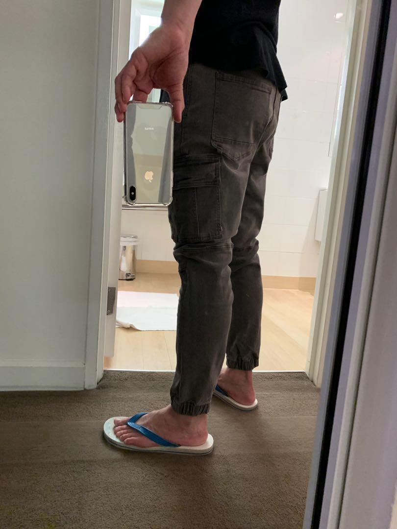 COTTON ON SLIM CARGO PANTS JOGGER 帥氣顯瘦修長丹寧工作褲