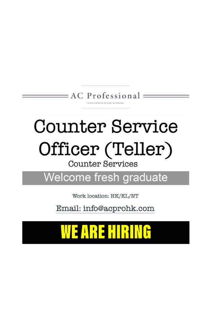 Counter Services Officer