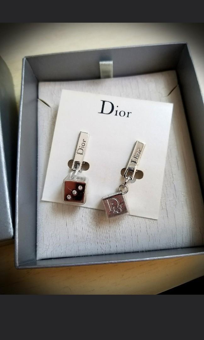 🈹▶️Dior dice clip on Earrings 閃石骰仔夾耳環耳夾