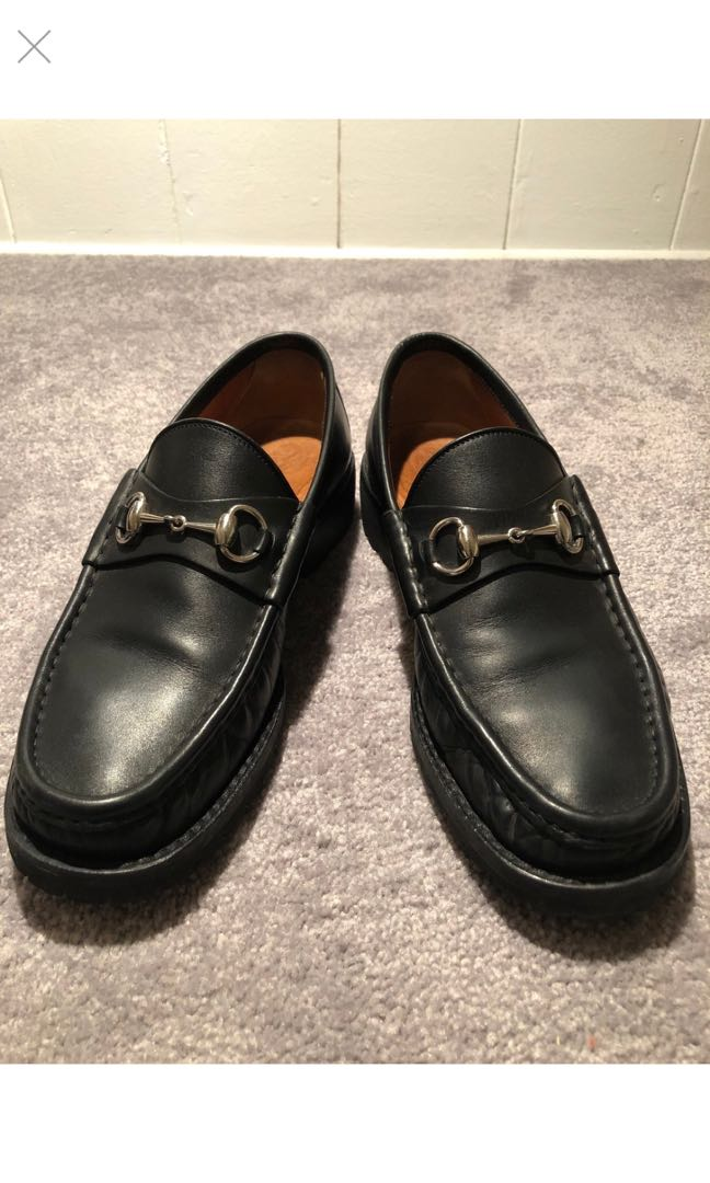 f5d0bdbd2 Gucci Horsebit Loafers Lug Sole 9.5, Men's Fashion, Footwear, Boots ...