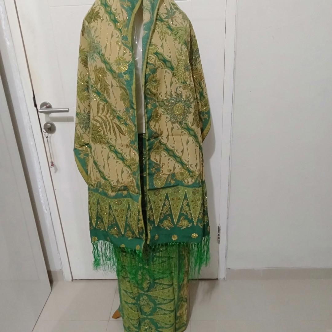 obral kain batik prada dengan selendang