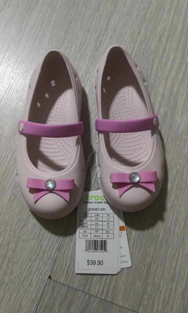 4da7867daf91 Kids Crocs keeley charm flat C11