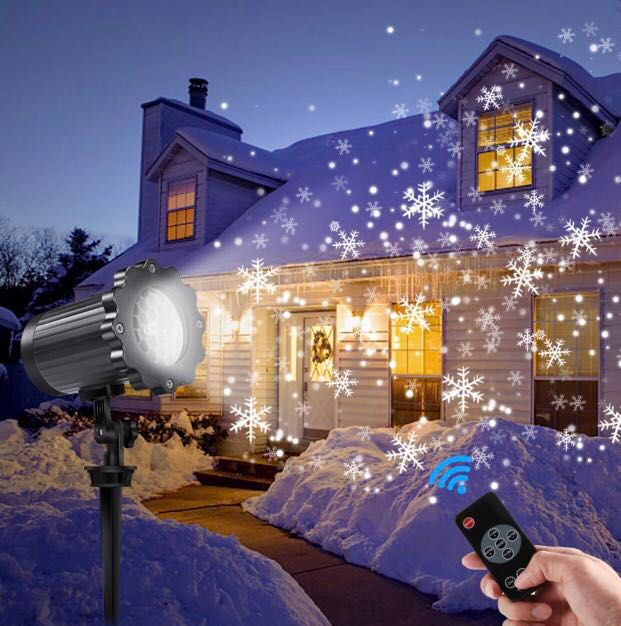 Christmas Projector Lights.Led Projector Lights Outdoor Greenclick Christmas Projector Light With Rotating Snowflake Snowfall Remote Timer 4 Modes Waterproof Landscape
