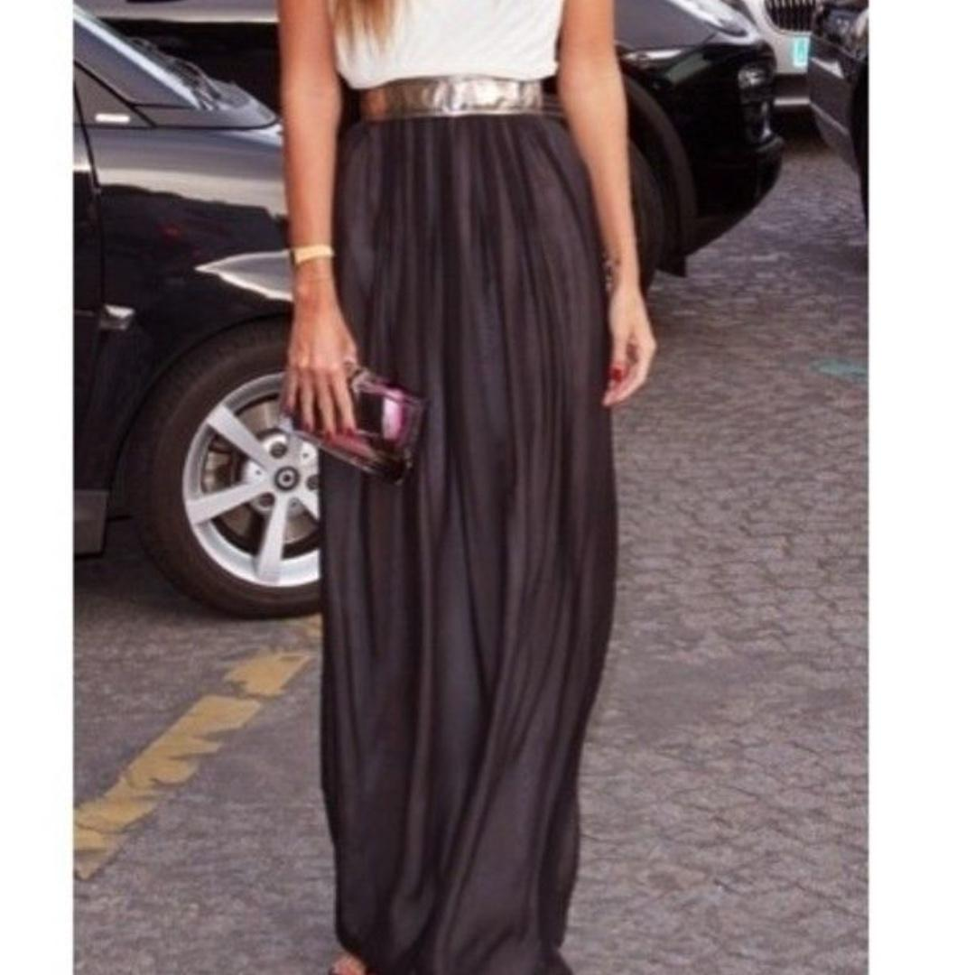 38b9c313b8dc34 MANGO COLLECTION Flowy Full Maxi Skirt on Carousell