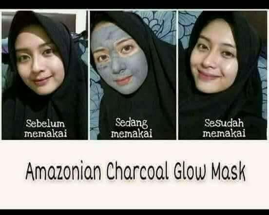 Masker arang untuk wajah AMAZONIAN CHARCOAL MASK
