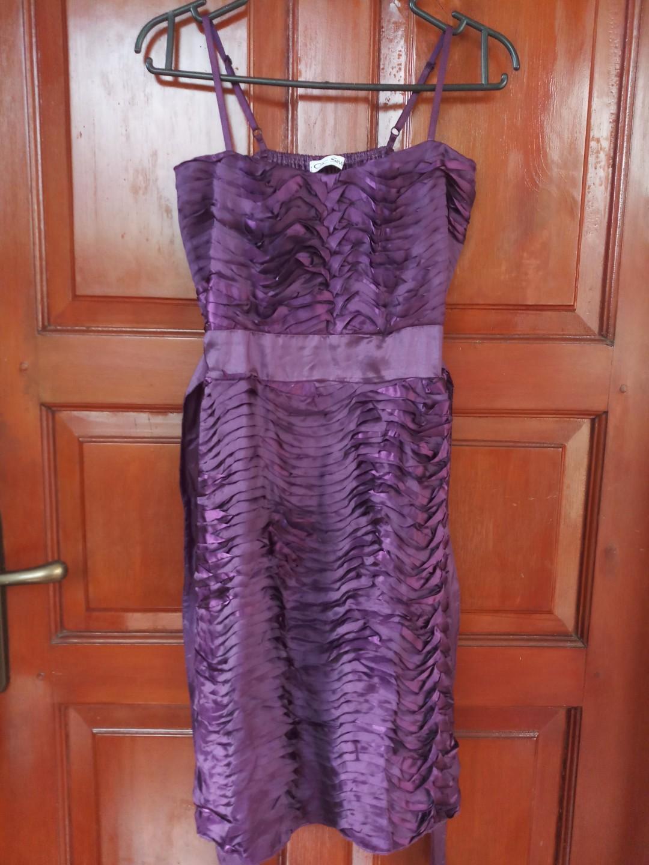 Mini dress chic simple purple