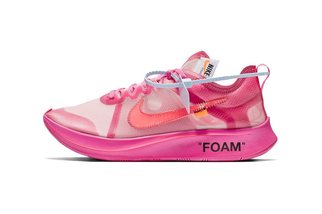 1cef436604a2 Nike x Off White Zoom Fly in Pink