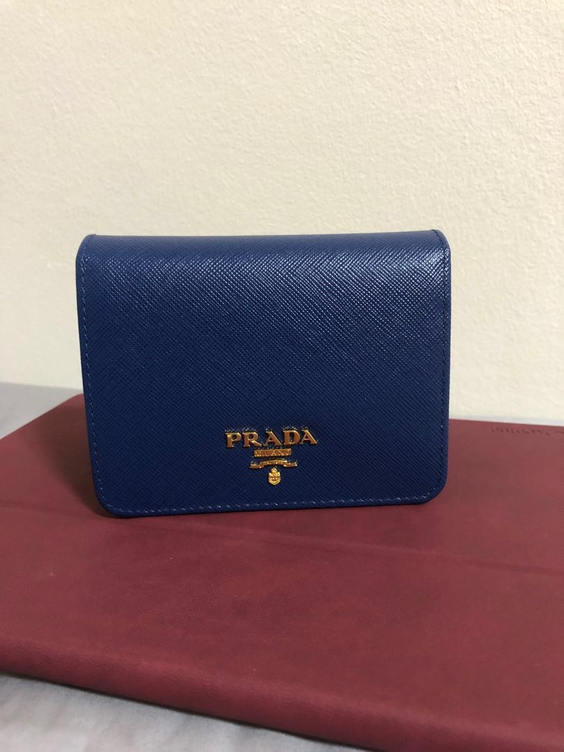 8f1121b46d31 Prada Saffiano Short Trifold Wallet, Women's Fashion, Bags & Wallets ...