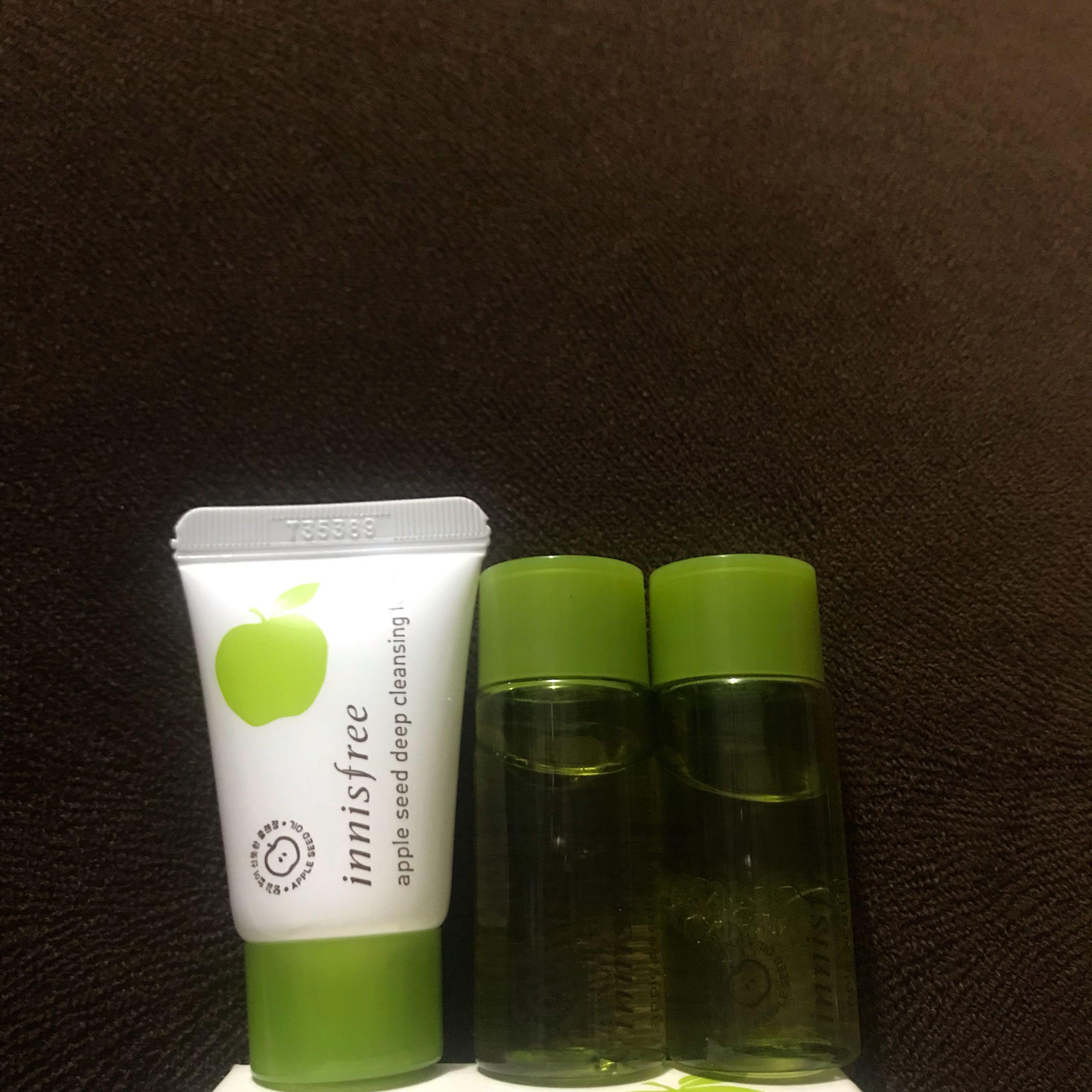 Preloved Innisfree Apple Seed Cleansing Trial Kit