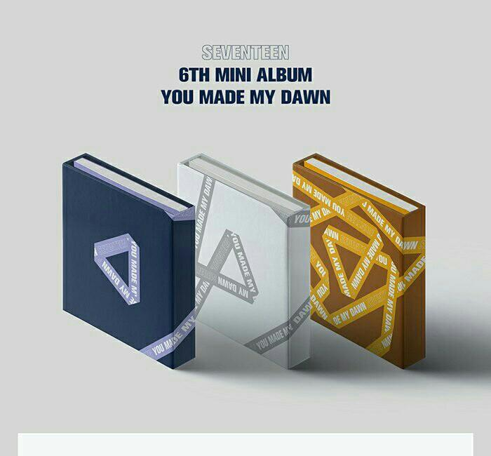 [READY STOCK] SEVENTEEN 6TH MINI ALBUM 'YPU MADE MY DAWN (with poster)