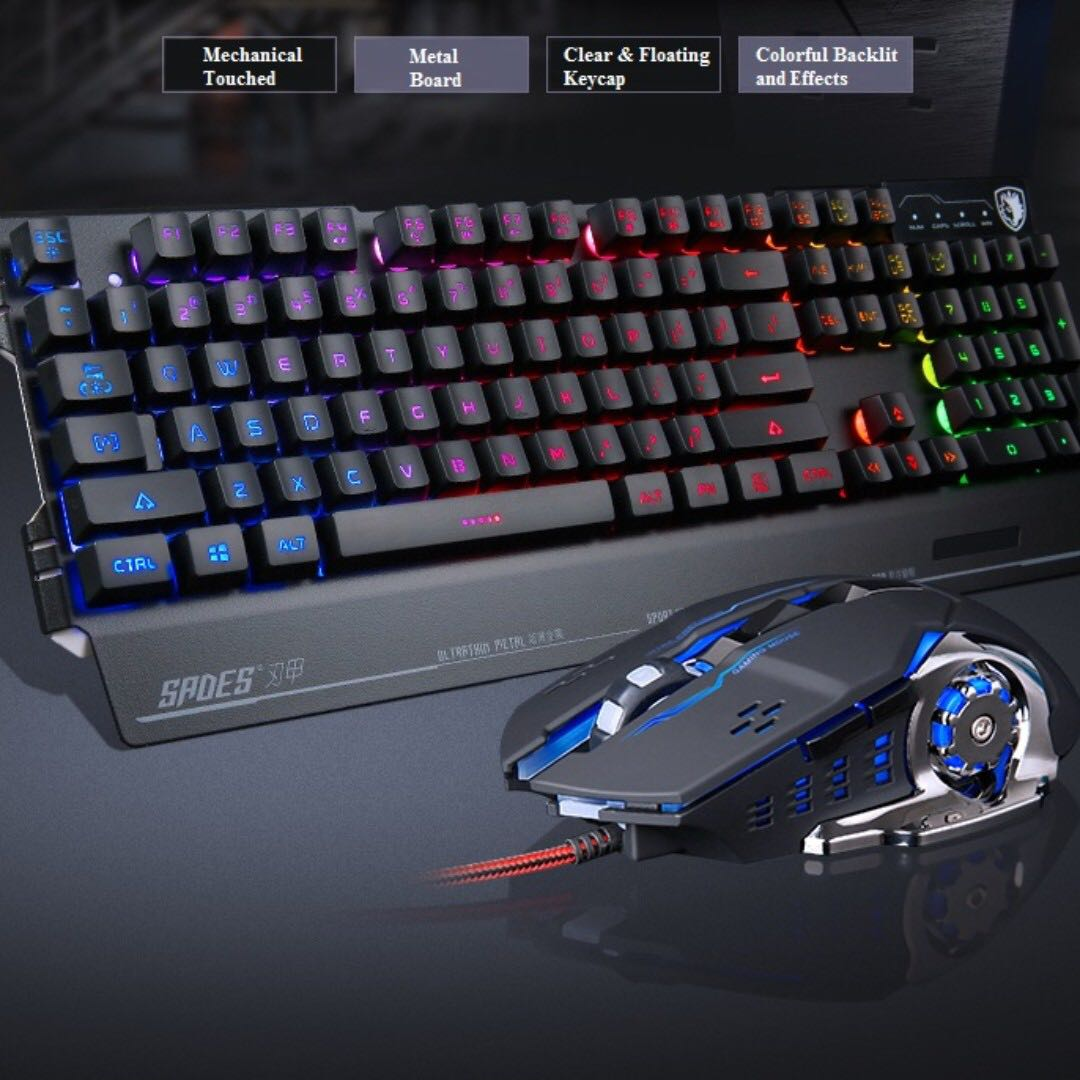 a4c552a2ccd Sades Pro Gaming Combo - Keyboard & Mouse (Blademail), Electronics ...