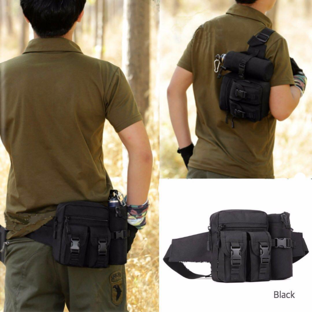 34d034b523f SOLEI Hiking Waist Pouch/Pack/ with Water Bottle/ Tactical/ Fanny ...