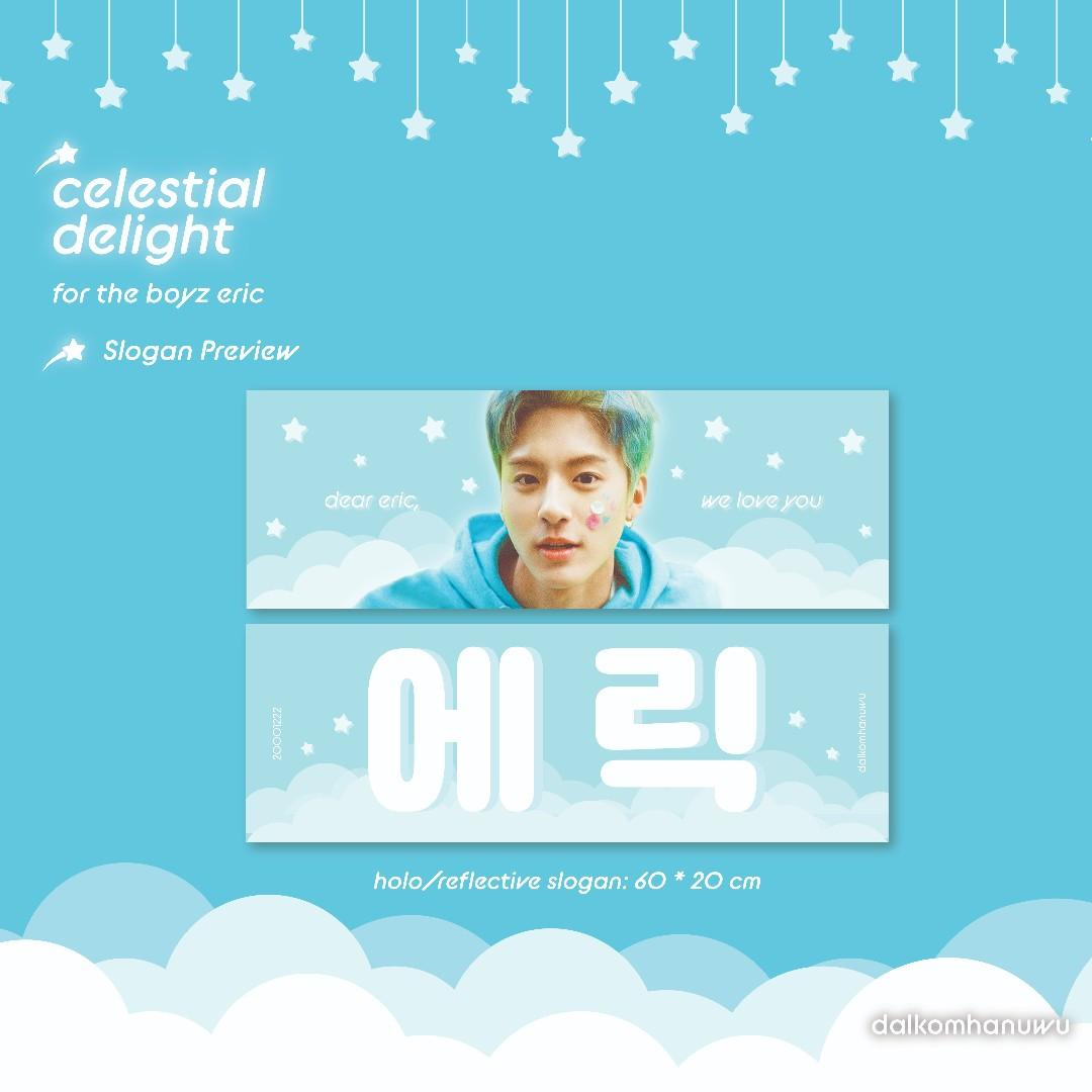 The Boyz Eric Slogan Set, Entertainment, K-Wave on Carousell