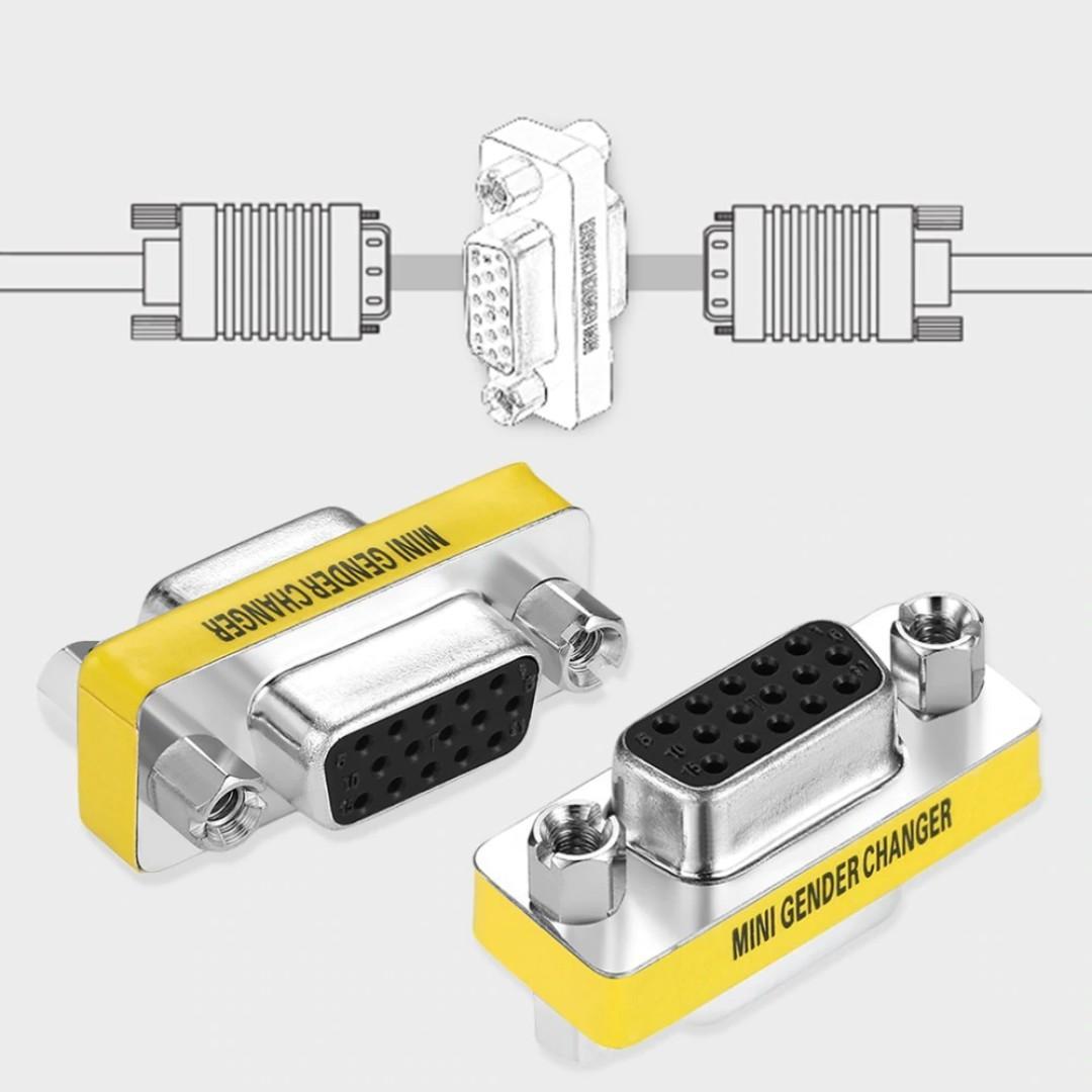 VGA Female to VGA Female Gender Changer Convertor Adapter
