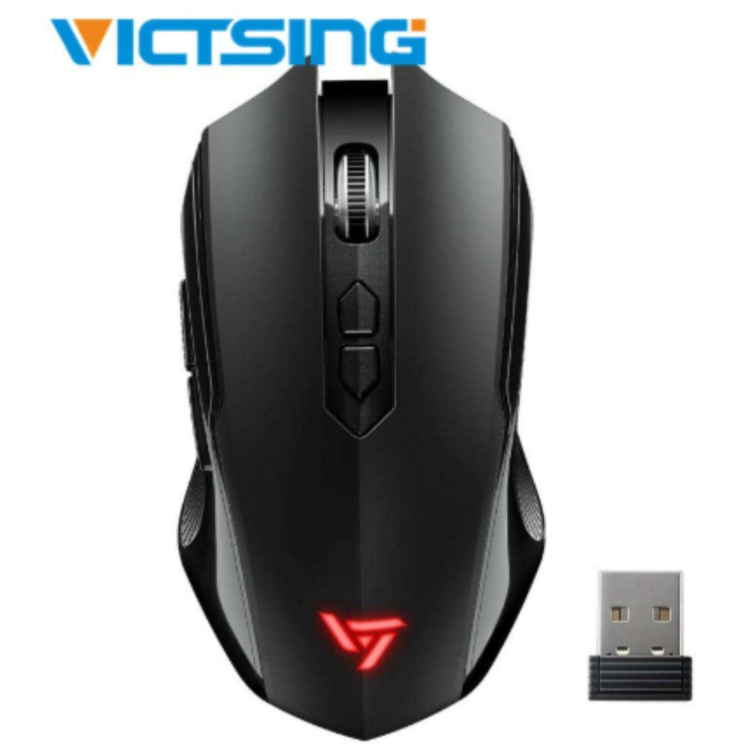 1bc942e2818 VicTsing 2.4G Wireless Silent USB Optical Ergonomic Gaming Mouse ...