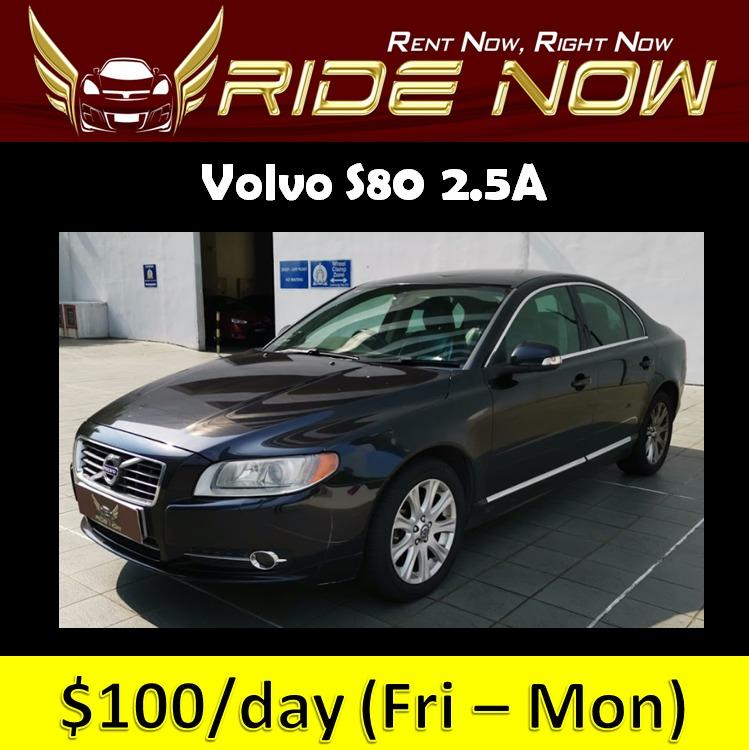 Volvo S80 2.5A Affordable and P Plate Friendly Car Rental