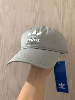 Adidas LOGO CAP 灰色老帽