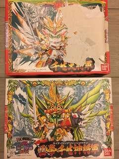BB戰士 No.100 & 108 千生大將軍 & 雷帝千生神將軍 SD Gundam 高達模型