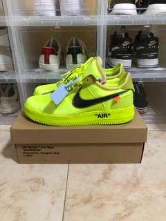 Nike Off White Air Force 1 Low Volt US12