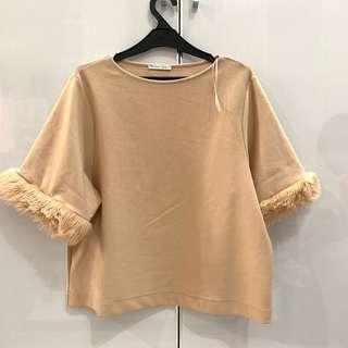 ZARA peach blouse