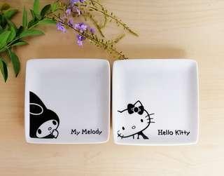 Sanrio hello kitty melody ceramic square plate