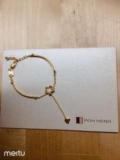 Poh Heng bracelet 916 gold