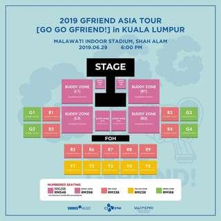 Gfriend in KL ticketing service