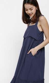 Love Bonito Roseni Ruffle Hem Layered Apron Dress