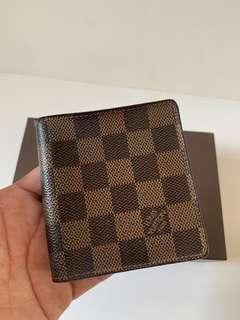 Authentic Louis Vuitton Damier Ebene Wallet