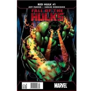 🚚 FALL OF THE HULKS: RED HULK #1 (2010)
