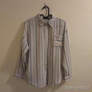 Blouse Kemeja like korean style! Boyfriend shirt!
