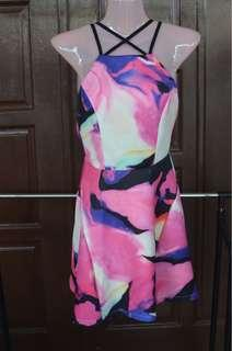 Colorful Sexy Back Dress