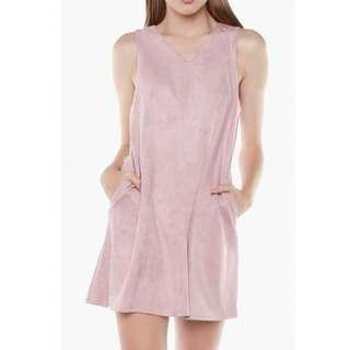 🚚 YHF Can't Be Suede Dress in Pink