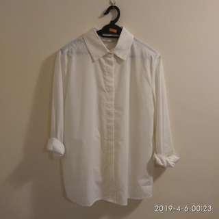 White Shirt Kemeja Putih preloved