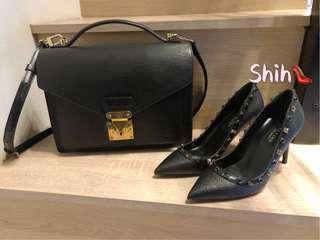🚚 Shih🎀(👠現貨39優惠🎉)歐美風格卯釘淺口高跟鞋