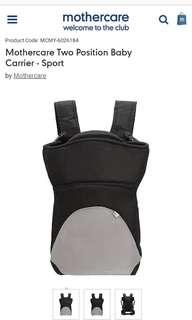 Mothercare Two Positions Baby Carrier